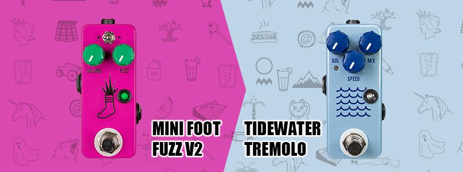 ミニフットファズ V2 & タイドウォータートレモロ
